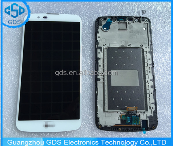 For LG K10 K410 K420 K430 LCD Screen with Digitizer Touch and Bezel Frame