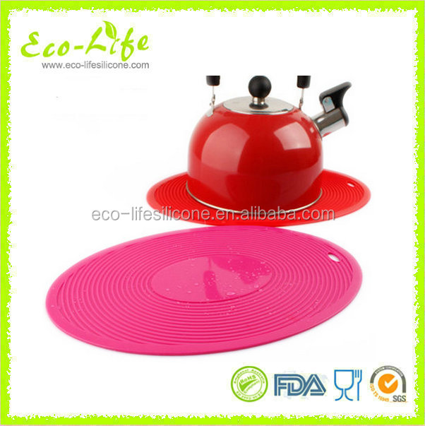 305*205MM Oval Shape Silicone Heat-resitant Hot Pot Mat, Table Mat, Coaster Pad