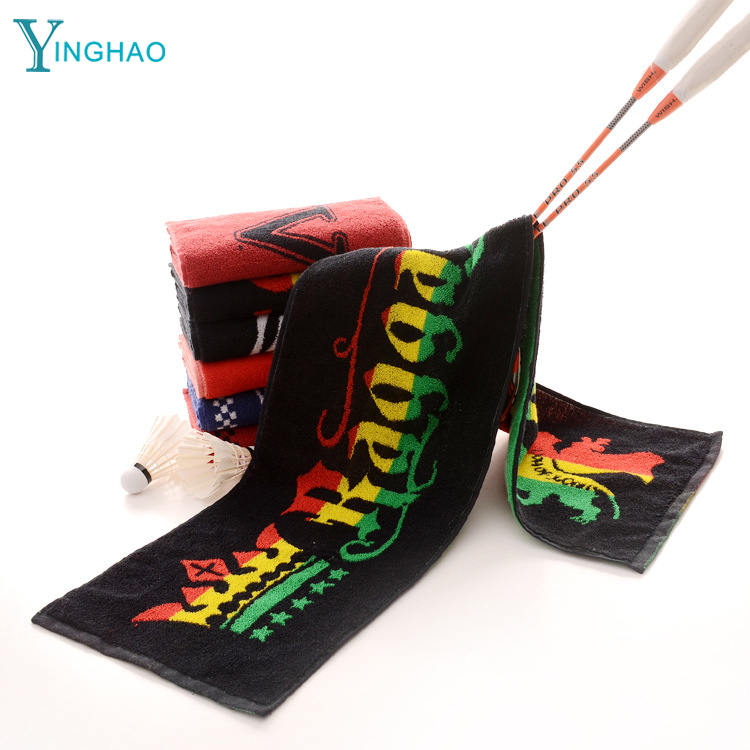 New reggae style Jamaica three color personality letters foreign <strong>trade</strong> original cotton absorbent sports towel