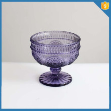 popular shape hand made clear decorative glass stem and bowl