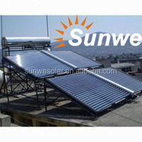 Evacuated Tube Unpressurized Solar Collector for Pool Heating, Hot Water Project