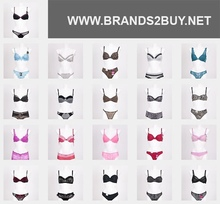 Brand stock of women's lingerie in twin sets