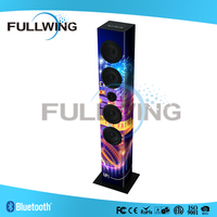 2.0 CHANNEL wireless bluetooth music loudspeaker Tower speaker with FM Radio,USB,Remote 20W rms FW-1305D