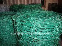 china supplier sports sneakers pvc coated barbed wire fence for wholesales
