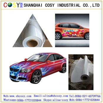 Digital Printing Inkjet Self Adhesive Vinyl Waterproof Car Body Stickers / Self Adhesive Vinyl Rolls With Free Samples