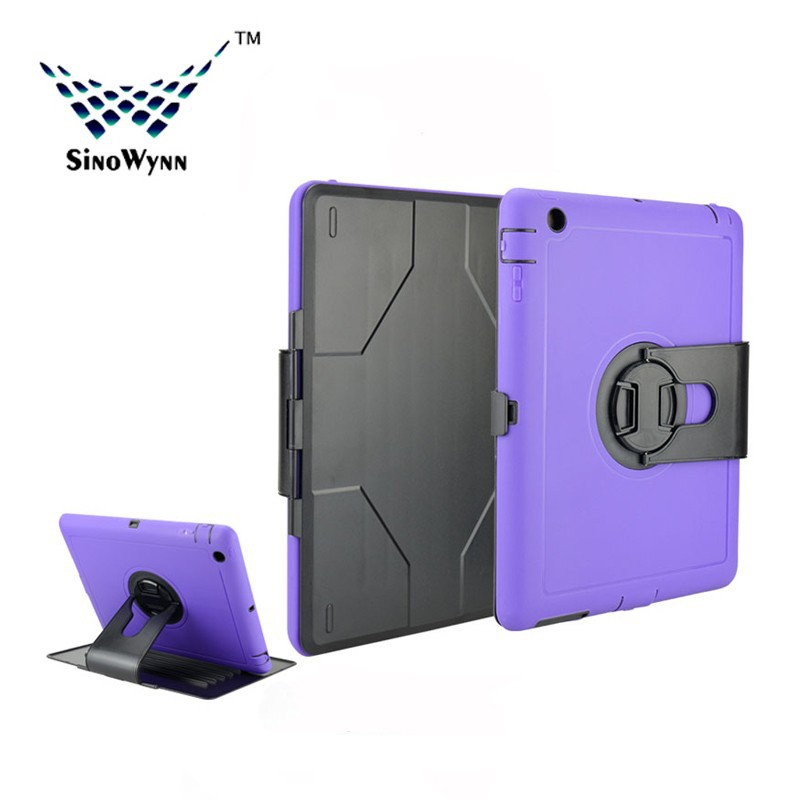 Hot Sale Heavy Duty Full-body Protector Case For iPad 2/3/4 with 360 Rotating Stand