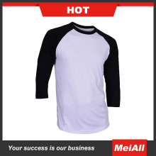 High quality China manufacture raglan mans 3/4 sleeve t shirts for sale