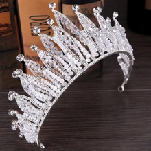 Gorgeous Wedding Bridal Rhinestone Hair Accessory Girl <strong>Crowns</strong> Tiara <strong>Crowns</strong> And Tiaras