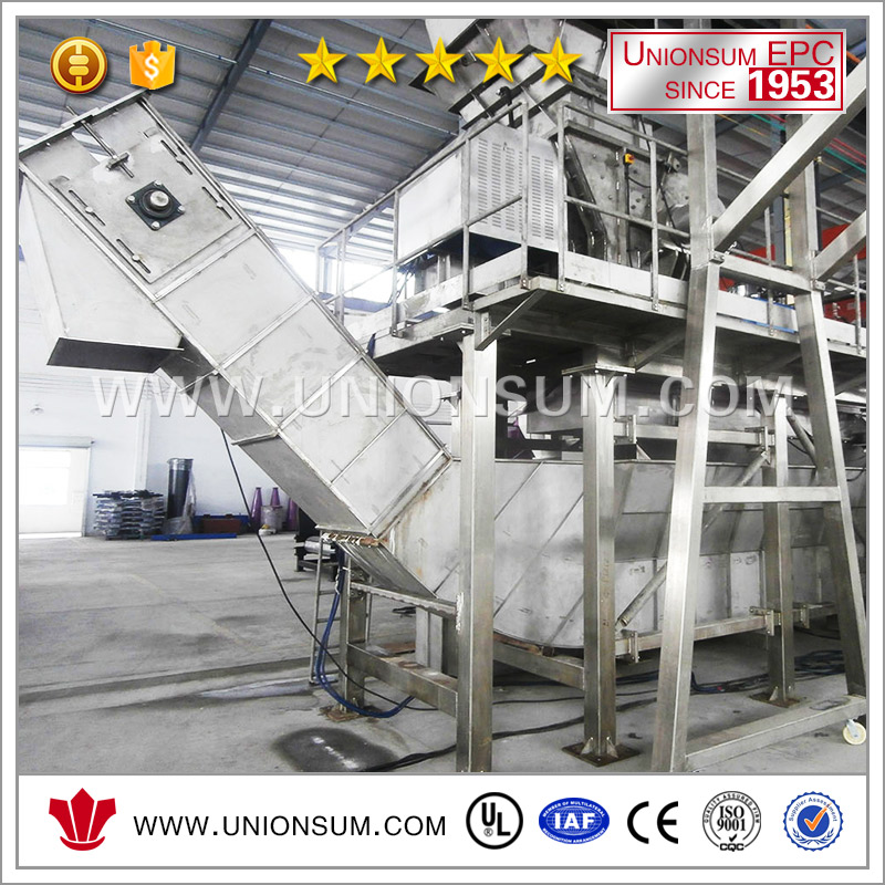 Used battery drained battery breaking system recycling plant