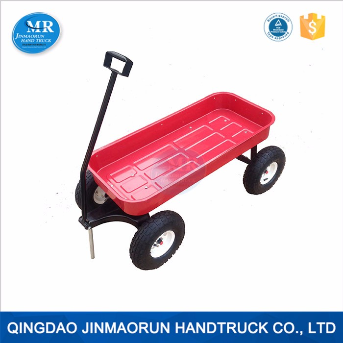Kids Garden Tools 4 Wheel Metal Tool Cart