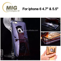 Metal mobile phone case for iphone with holder/ Unique racing body streamline Auto exterior mobile phone cellphone cover case
