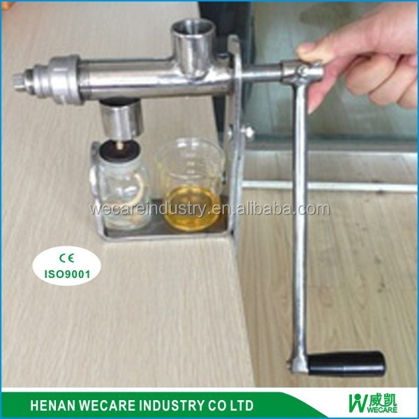 home use manual small stainless steel hand operated oil press