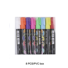 12 color dry Eraser 6mm Reversible Tip non-toxic skin marker