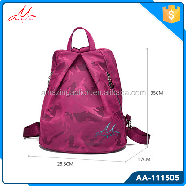 2016 Latest new design cheap bright color waterproof girls daily leisure backpacks schoolbag