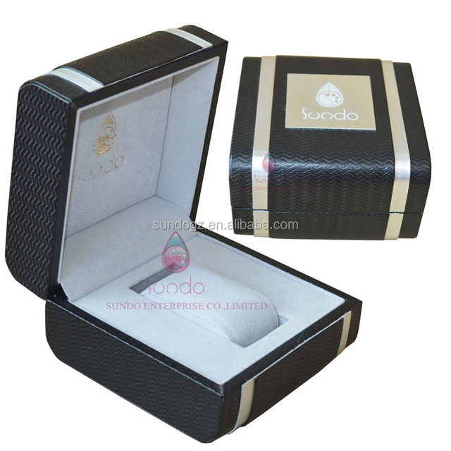 luxury custom case logo display packaging leather aluminum metal jewelry watch box