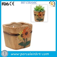 Terracotta sunflower design small hanging flower pot