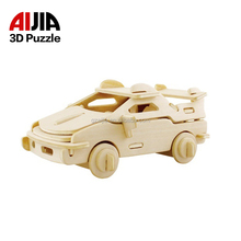 2017 new design baby 3d puzzle wholesale kids cheap wooden 3d jigsaw puzzle wood toy for children