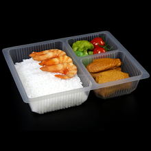 lunch box plastic Disposable compartment food containers