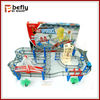 Hot sell electric toy car track plastic racing car