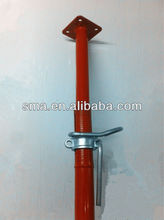 Heavy duty adjustable steel prop standard for construction formwork support