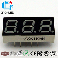 39*19.9mm dual color 7 segment led display 3 digit 0.51 inch