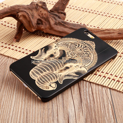 High Quality Standard Custom Laser Engraving Hard Blank Wood+PC Phone Case for iPhone 5 for iPhone 6 Plus