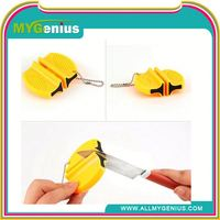 mini fast knife sharpener ,ML0040, mini pocket knife and scissors sharpener