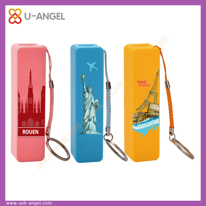2016 new design high capacity fashion business 2600mah portable mobile power bank for all phone
