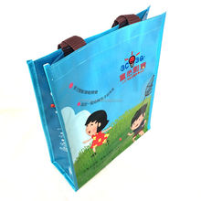 Eco-friendly attractive design custom logo printing glossy laminated PP woven shopping bag
