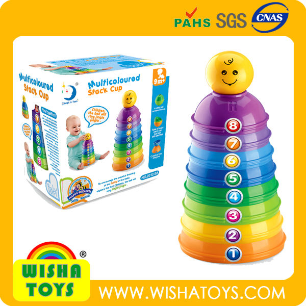 Similar to Fisher Price Baby Stacking Cups Colourful stacking bowls toys