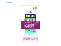 itop 9H best tempered glass screen protector with gold color border for iphone 5