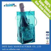 wholesale promotional gift reusable pvc wine bag