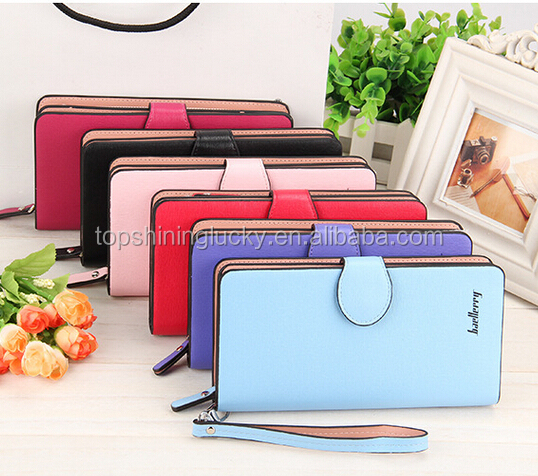 2016 new women fashion top quality PU leather wallets Women Brand Long Purse wallet