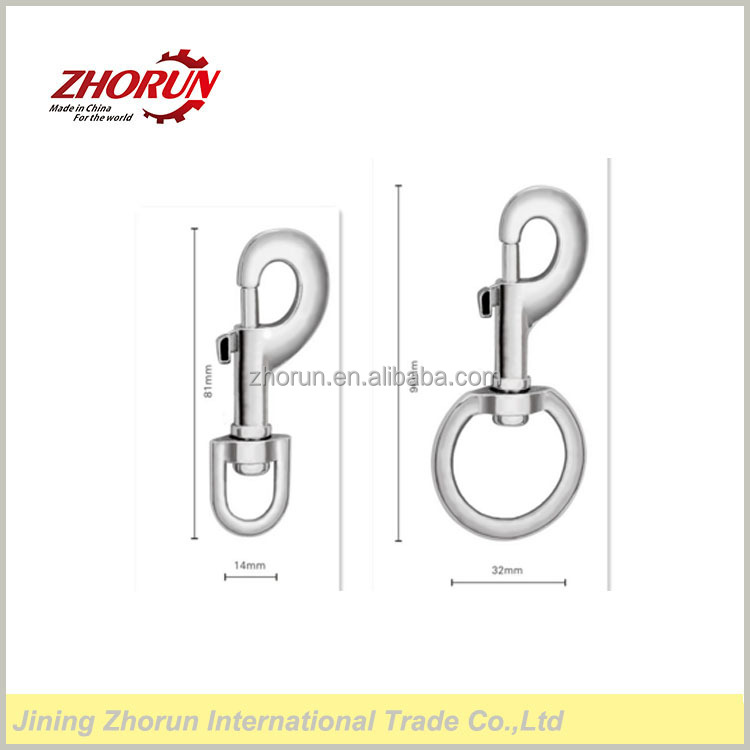 Luggage hardware accessories zinc alloy hook,mini metal swivel hook,hanging buckle spring hook