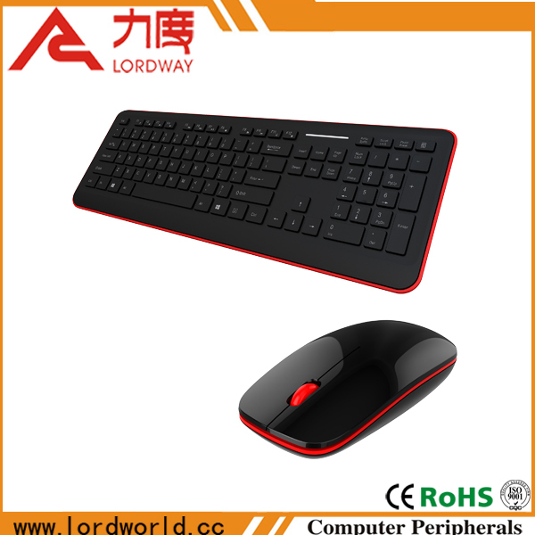 2016 fashion cheap wireless computer keyboard and mouse combo