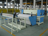 Auto feeding continuous cutting by conveyer belt precision four column hydraulic plane automatic fabric cutting machine