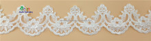 GX138B-165 New style african tulle fabric lace trim, tiny motif lace trim, bridal lace trim