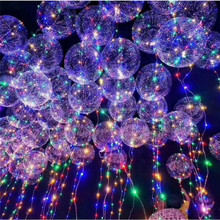 Fashion Christmas Wave Ball Floating LED Lighted Wedding Party Decoration Balloons Confession Balloon