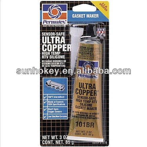 81878 ULTRA COPPER HIGH TEMP RTV SILICONE - 3 OZ Tube/Carded 101BR NEW