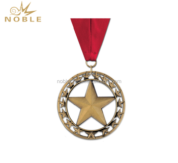 Round Cutout Rising Star Cheap Sport Medal