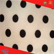 Latest Dress Designs White And Black Polka Dot Fabric For Clothing