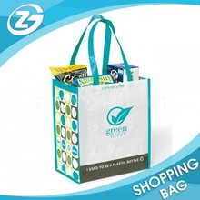 Direct Sales Custom Logo Color Printed Vietnam Promotion White PP Woven Shopping Tote Bags