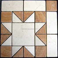 Mini Sun pattern stone / marble mosaic medallion selling well in Italy market