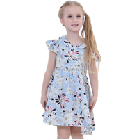 Cute girls summer dress floral dress summer style kid floral pattern frocks 2016