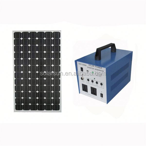 portable 150w domestic solar system for home use for tv,lights