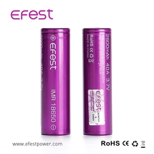 2017 new version Efest 18650 40A 2600mAH imr Purple 18650 battery with FREE plastic 18650 case