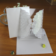 Hot Sell Elegant Transparent Glitter Plastic Paper Wedding Invitation and Style