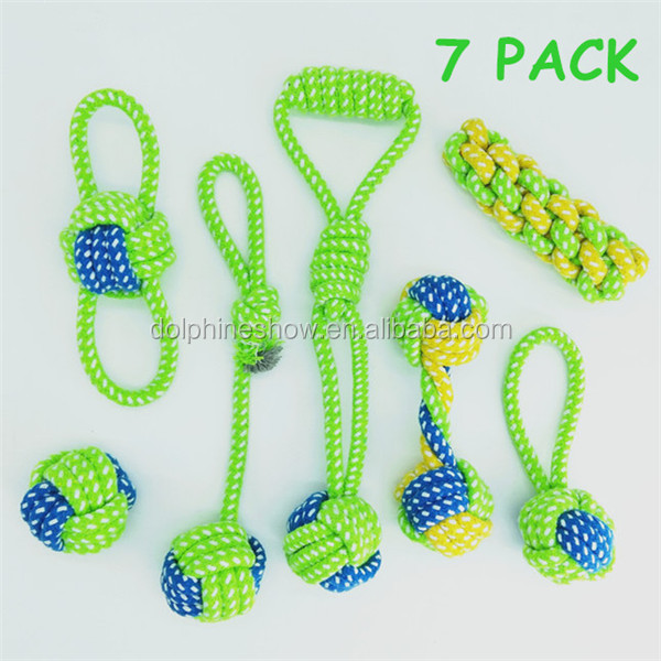 Wholesale puppy teething dog toys 6 pack play set 2017 Custom LOGO cartoon durable squeaky pet chew toy rope sex dog toy girl