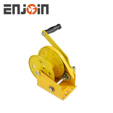 ENJOIN 1200lbs small hand operated winch ,cable pulling winches