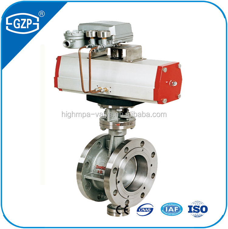 China Manufacturer High Quality Pneumatic or Handle wheel or Gear operated Metal Sealing Butterfly Valve for water dea system